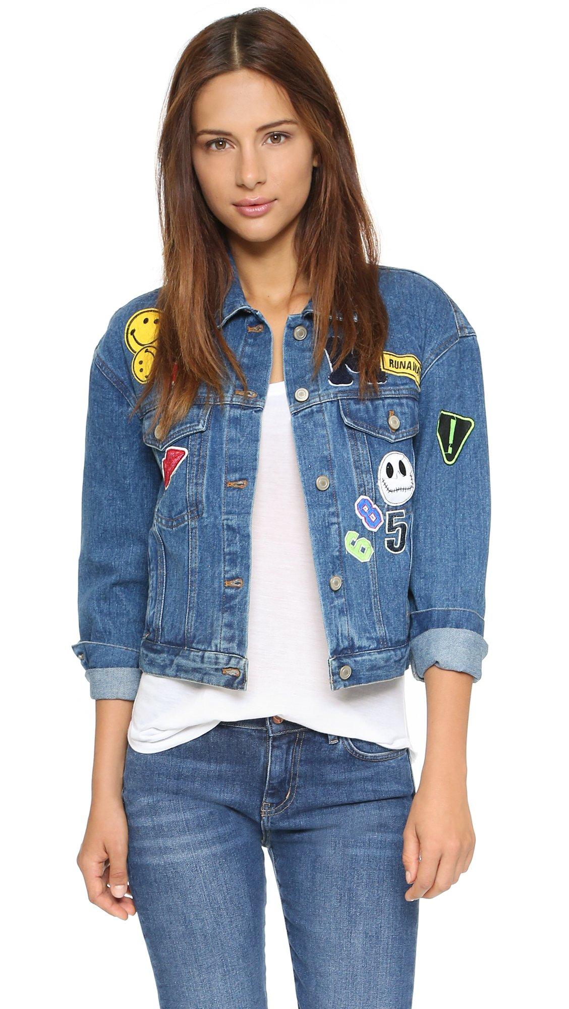 Renamed Patch Denim Jacket - Blue Wash in Blue   Lyst