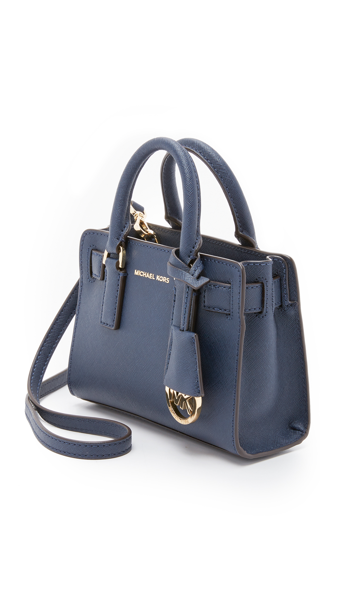 24e88bb7b096 Lyst - MICHAEL Michael Kors Dillon Extra Small Cross Body Bag in Blue