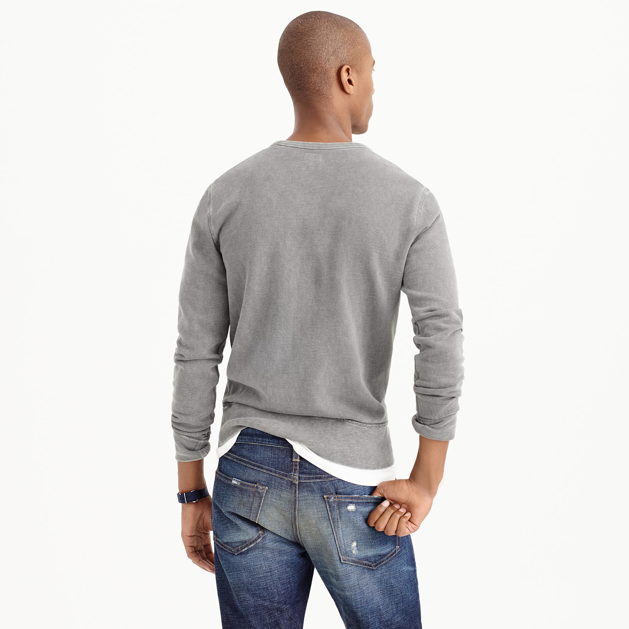 J Crew New York Sweatshirt In Gray For Men Lyst