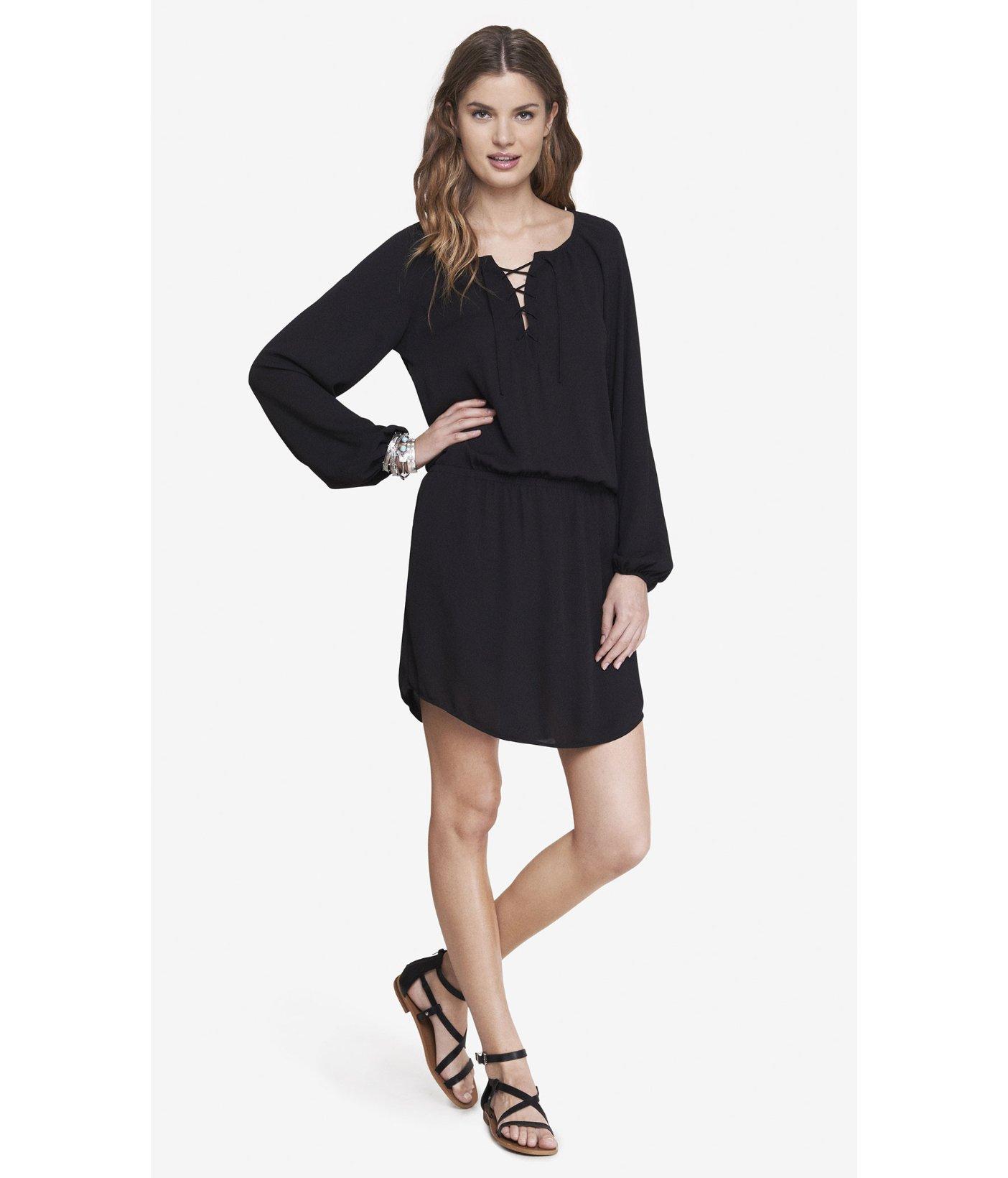 fb0d2c7e753ed Express Black Lace Dress Long Sleeve - raveitsafe