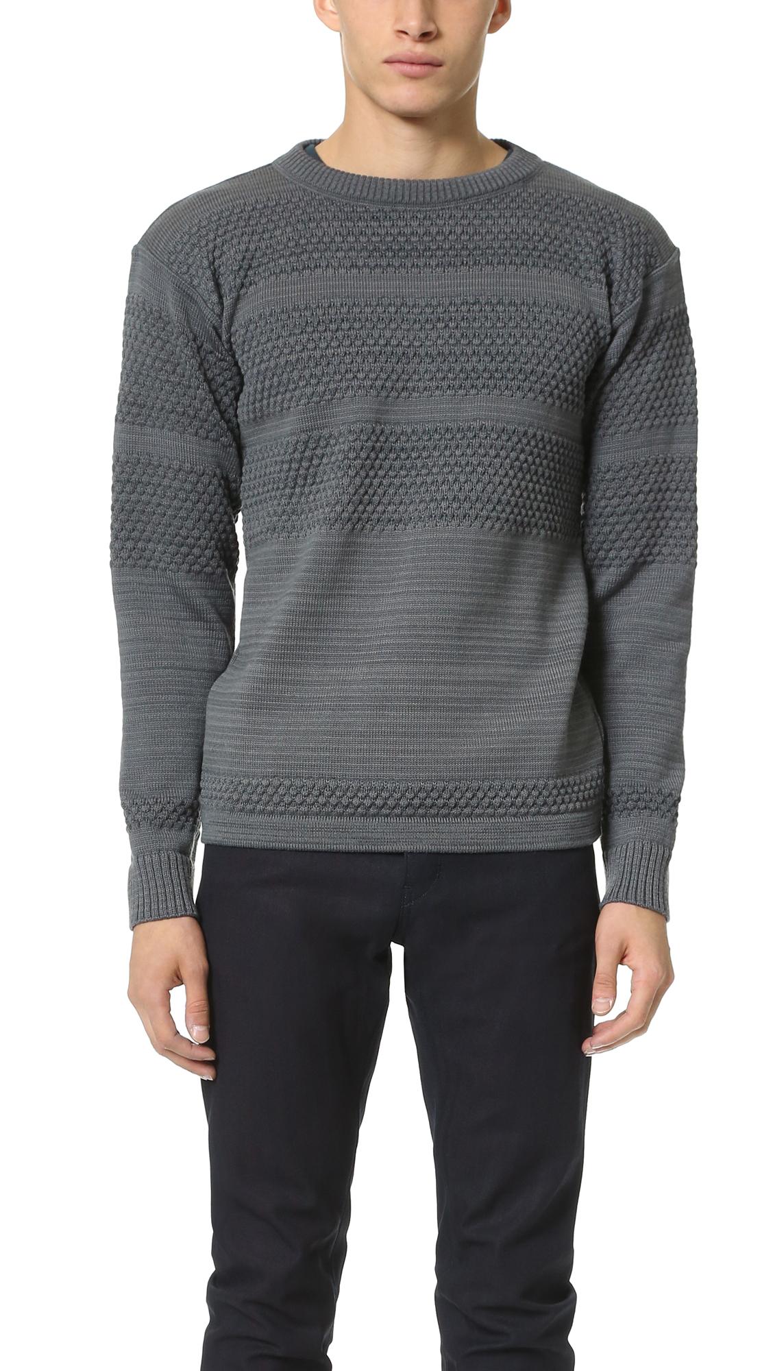 Fisherman Crew Neck Sweater