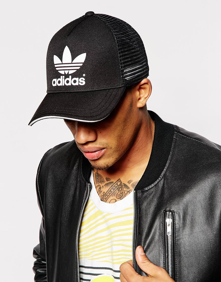 Lyst adidas originals trucker cap in black for men jpg 870x1110 Trucker  hats men 6aa838e90e0c