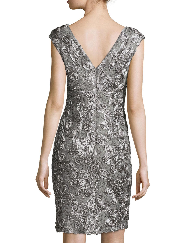 Sequin cap sleeve cocktail dresses