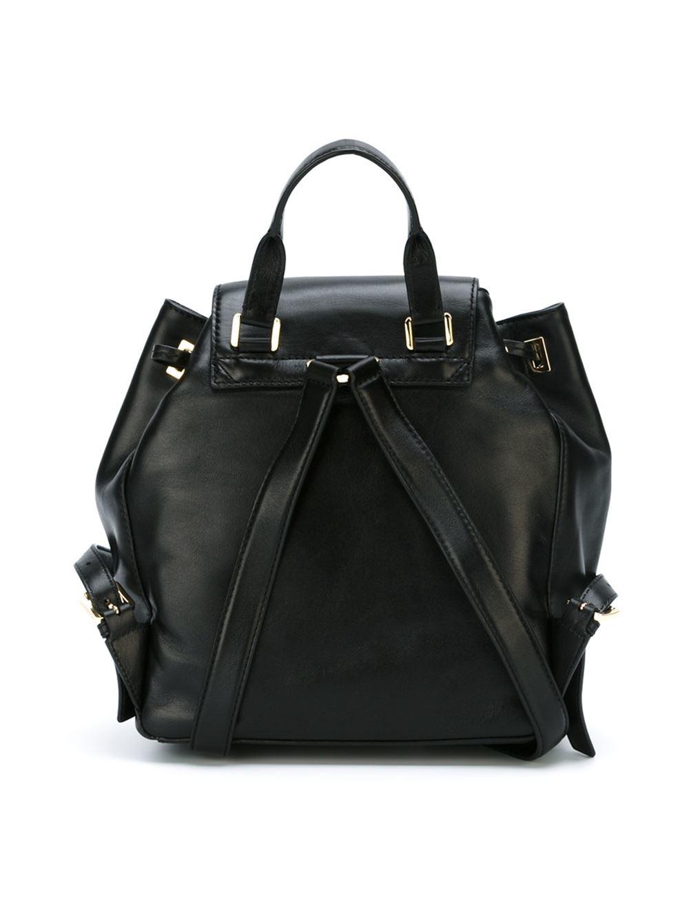 michael michael kors 39 marly 39 backpack in black lyst. Black Bedroom Furniture Sets. Home Design Ideas