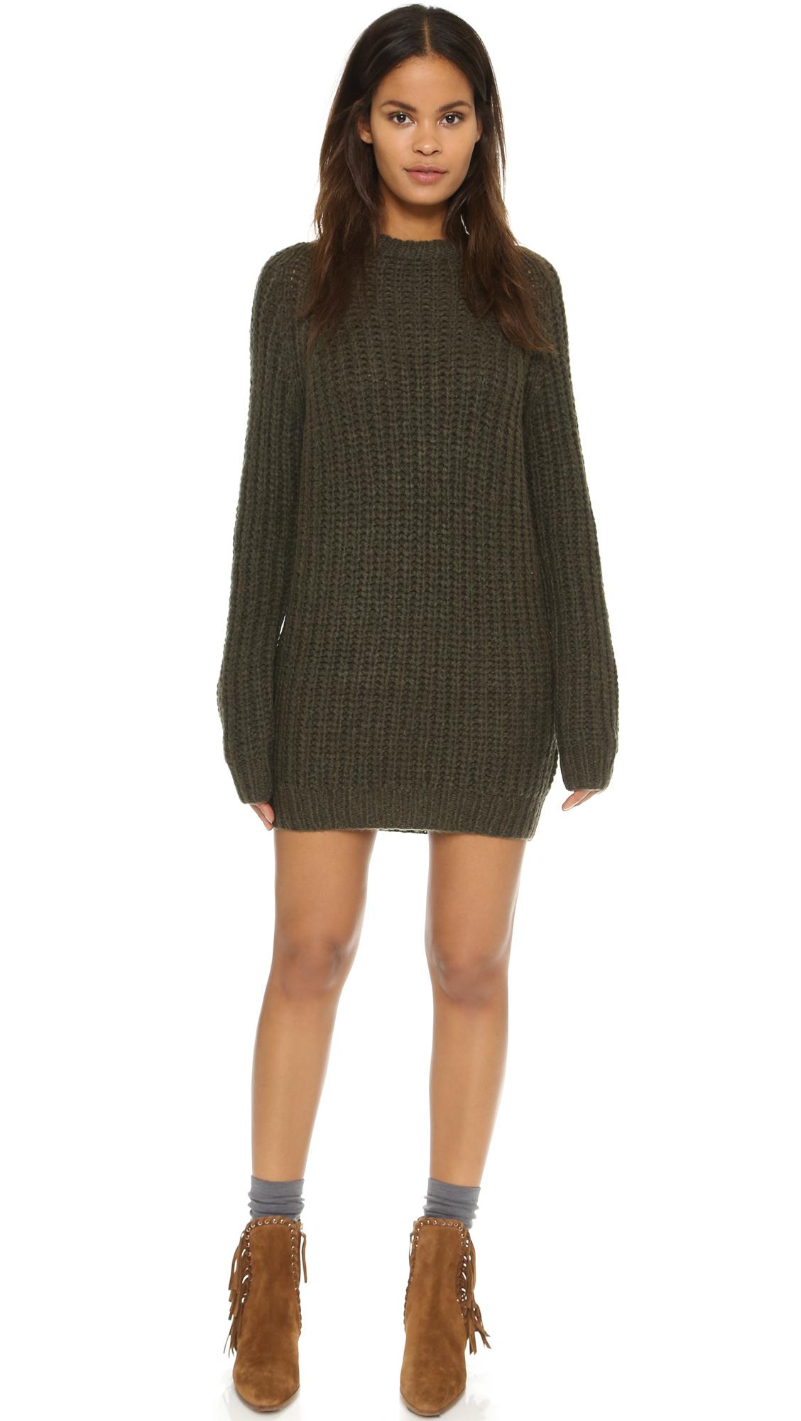 5e11385581a NLST Fisherman Sweater Dress - Olive Drab in Green - Lyst