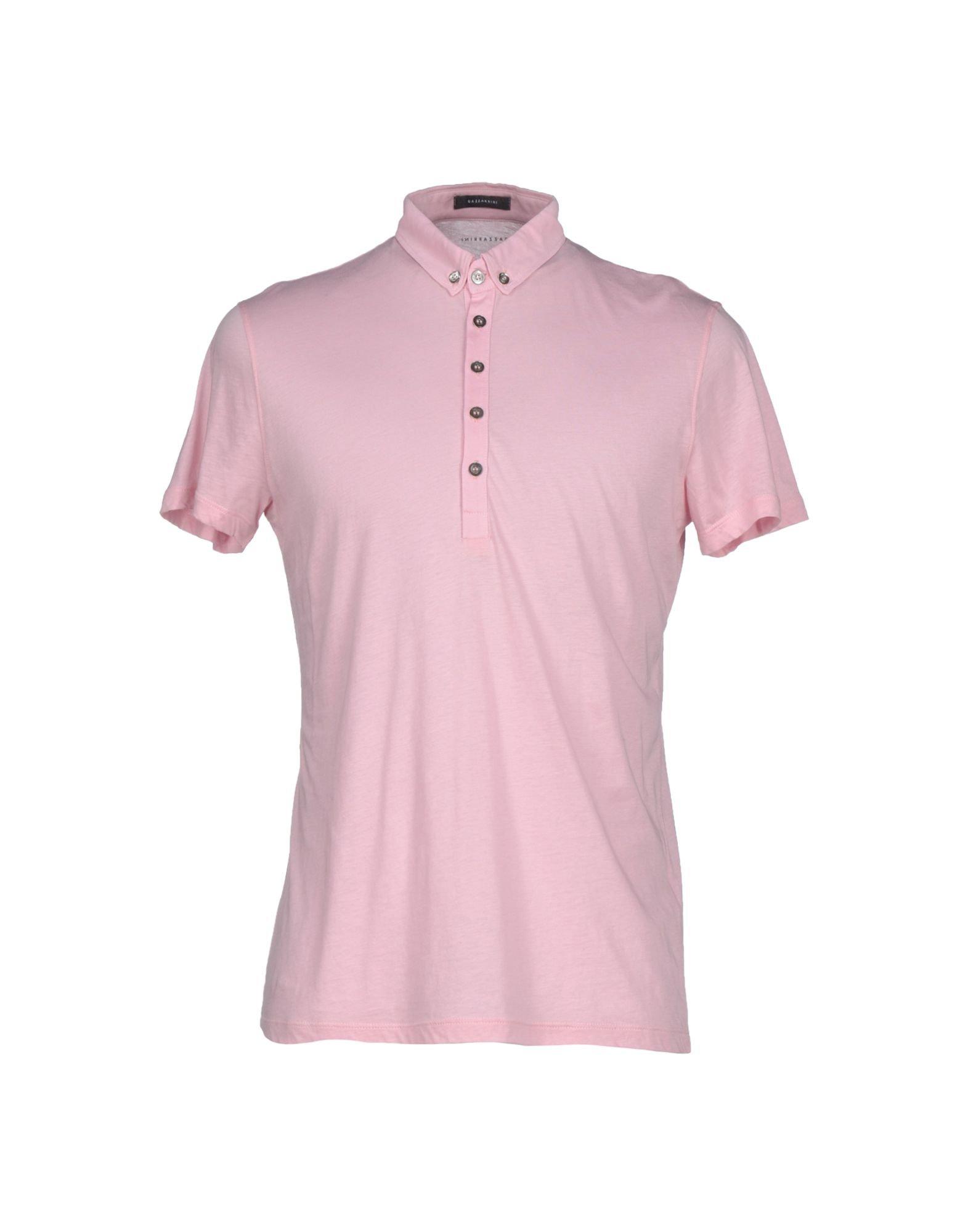 Gazzarrini Pink Polo Shirt For Men Lyst