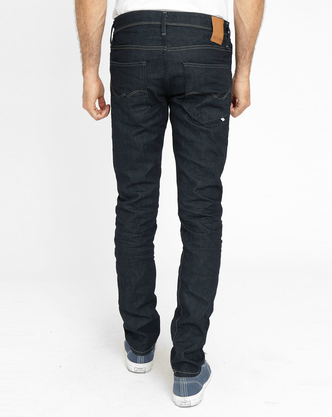 jack jones denim dark denim glenn slim fit jeans blue product 2. Black Bedroom Furniture Sets. Home Design Ideas