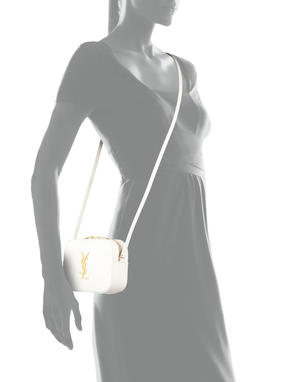 Lyst - Saint Laurent Monogramme Camera Cross-Body Bag in White 6a9bbb027e1d7