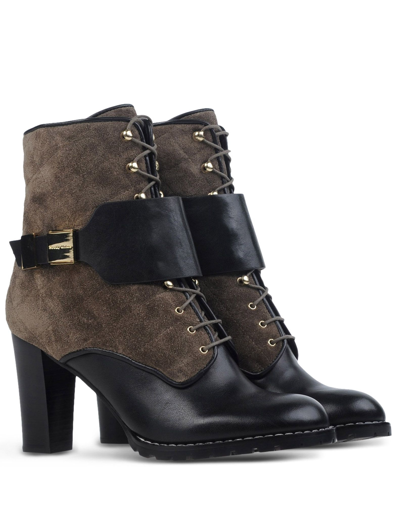 see by chlo lace up suede ankle boots in black lyst. Black Bedroom Furniture Sets. Home Design Ideas