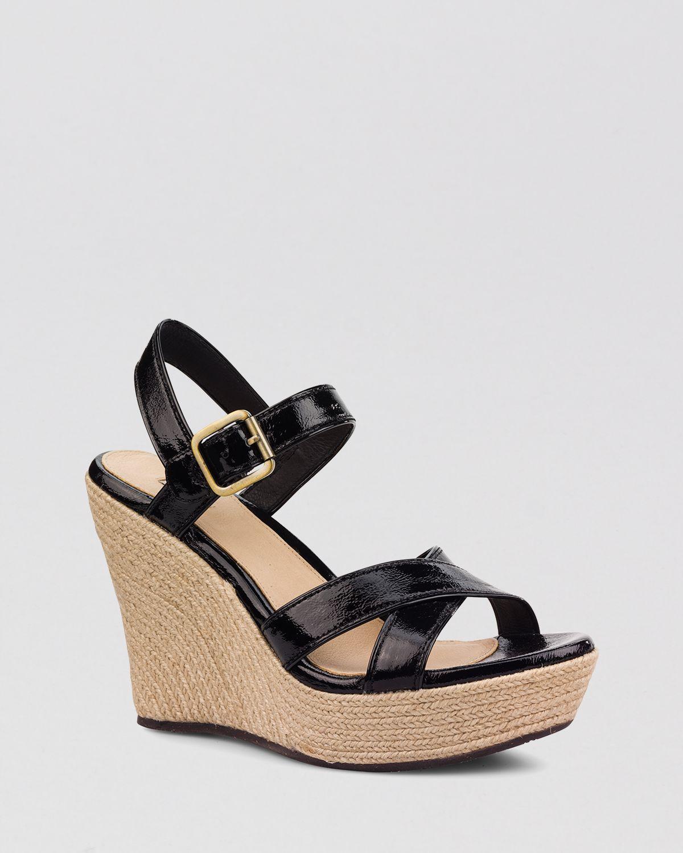 0ced647595d UGG Black Ugg® Australia Open Toe Platform Wedge Sandals - Jackilyn