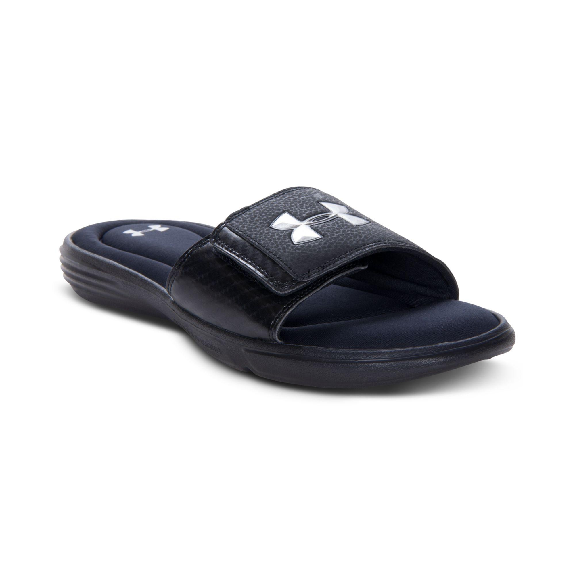 Under armour Ignite Iii Slide Sandals in Blue for Men (BLACK/MET ...