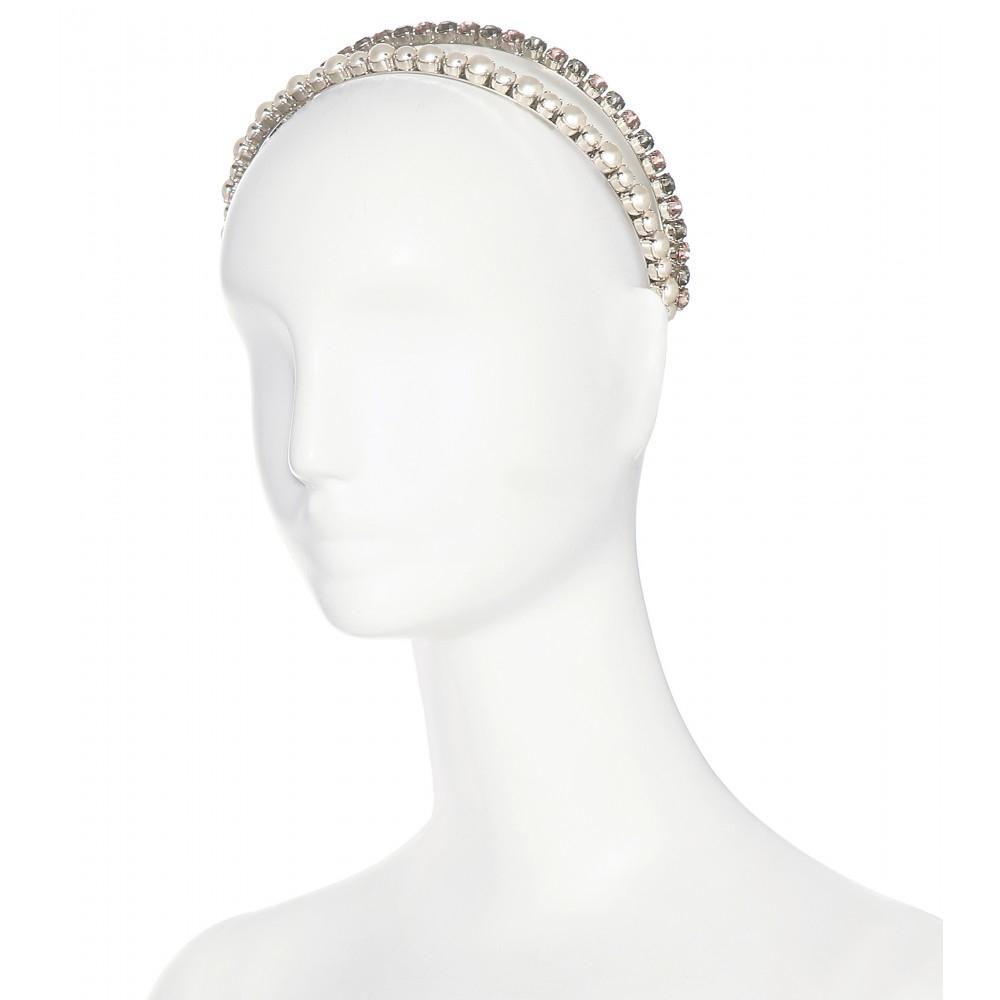 de Miu cristal y perlas Hairband de HqYwIYX