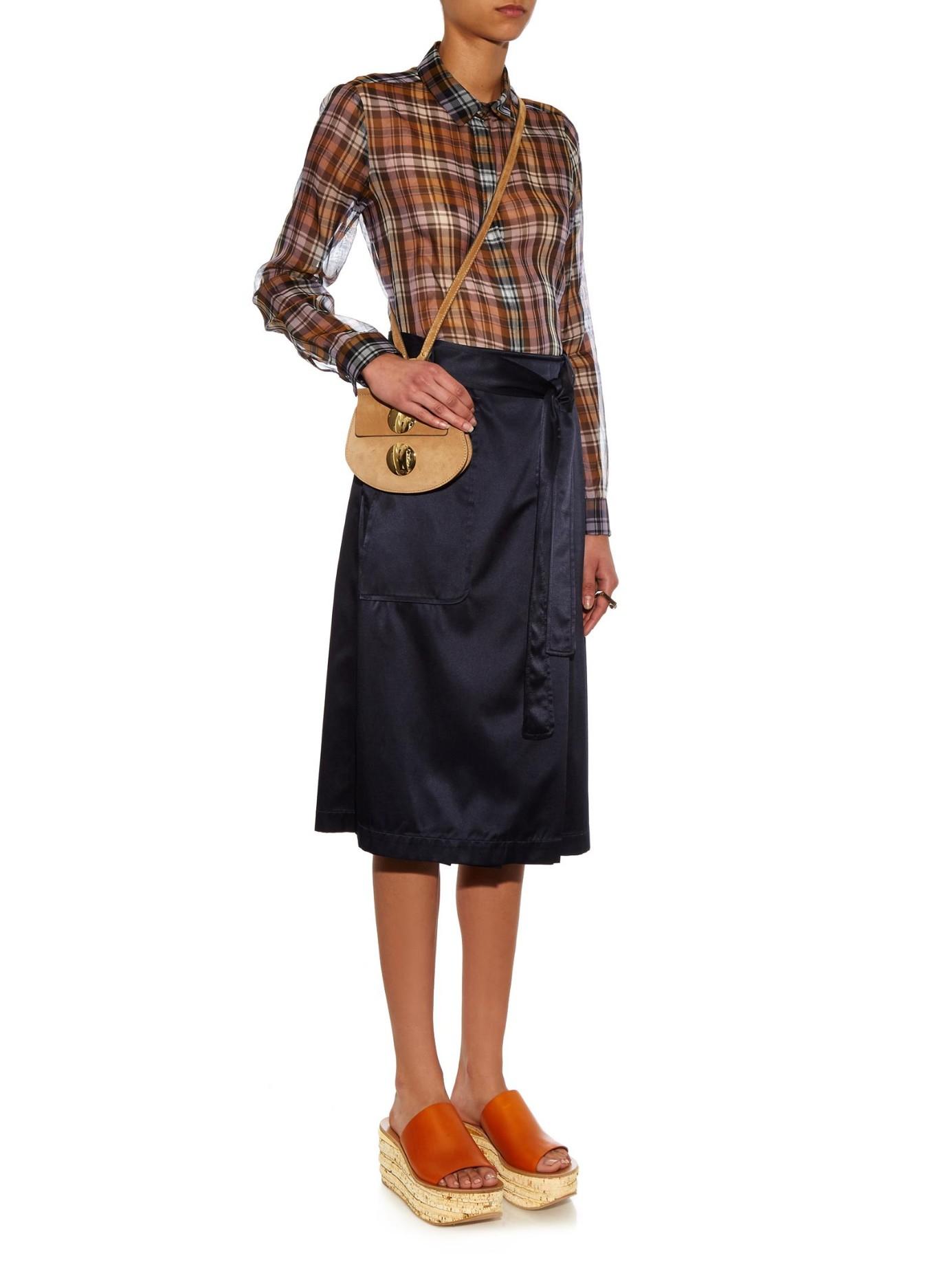 2021633b3f5c2 Chloé Mini Faye Suede Cross-Body Bag in Brown - Lyst