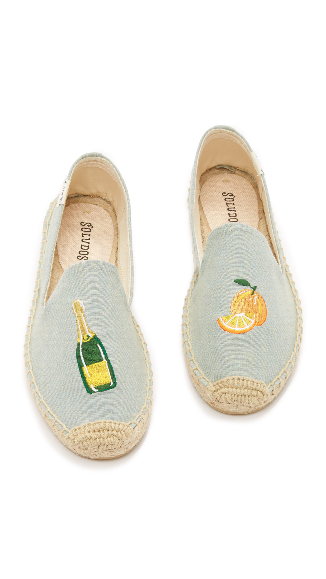 70e0e3ef8ed Lyst - Soludos Mimosa Embroidered Smoking Slipper Espadrilles in Gray