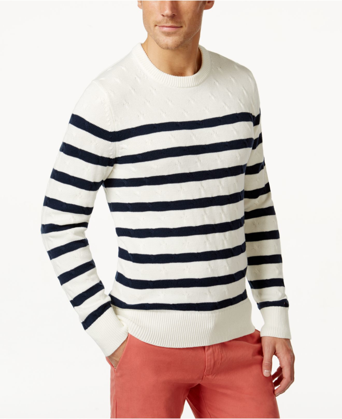 Lyst Tommy Hilfiger Mens Aloha Striped Sweater In Blue For Men