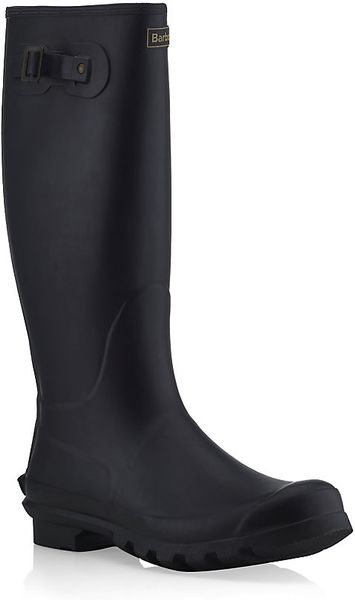 Barbour classic wellington boot in black for men lyst for Bogs classic mid le jardin