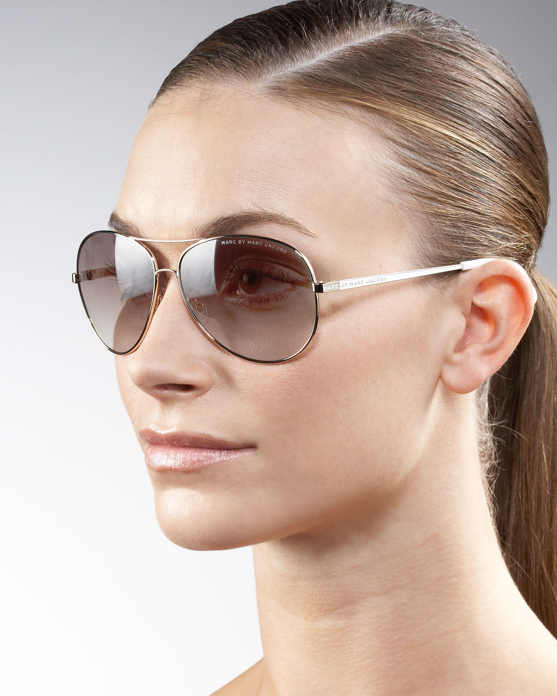 d5a13ced54 Marc By Marc Jacobs Women s Mmj 119 Aviator Sunglasses