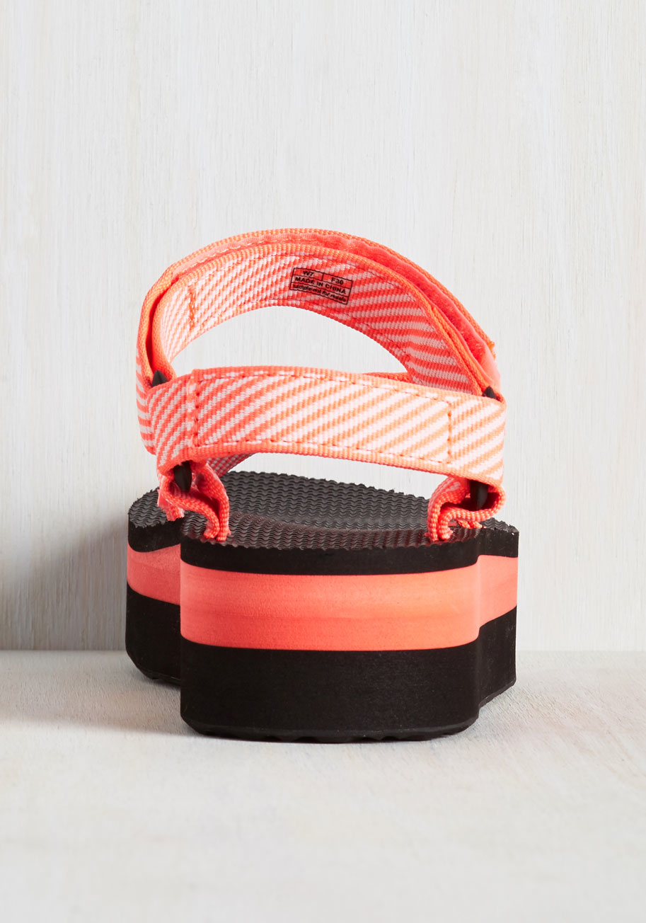 bc037bbdd90 Lyst - Teva I Wanna Walk With You Sandal In Neon Coral