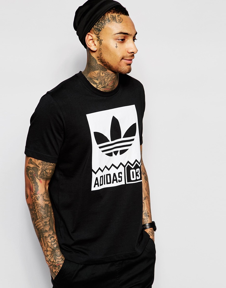 43b250d9 adidas Originals T-shirt With Street Graphic Aj7719 in Black for Men ...