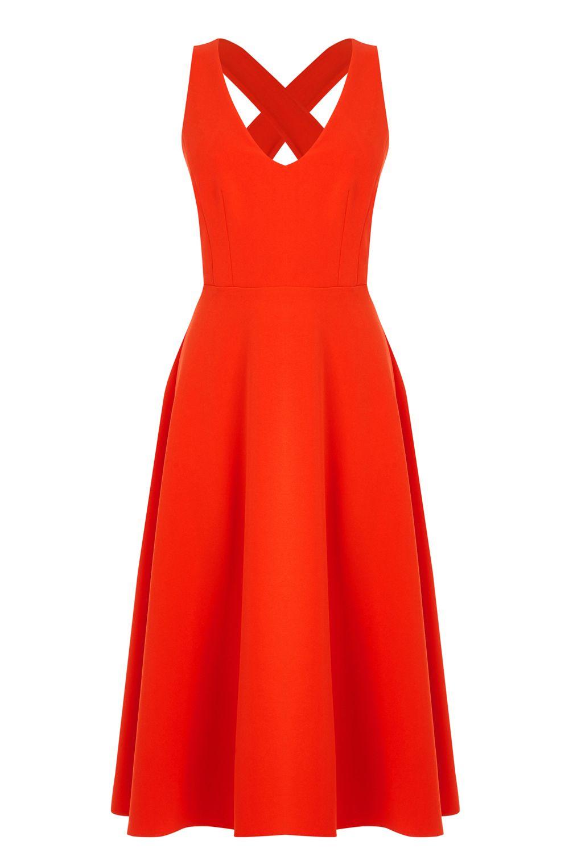 Orange Cross Back Dress