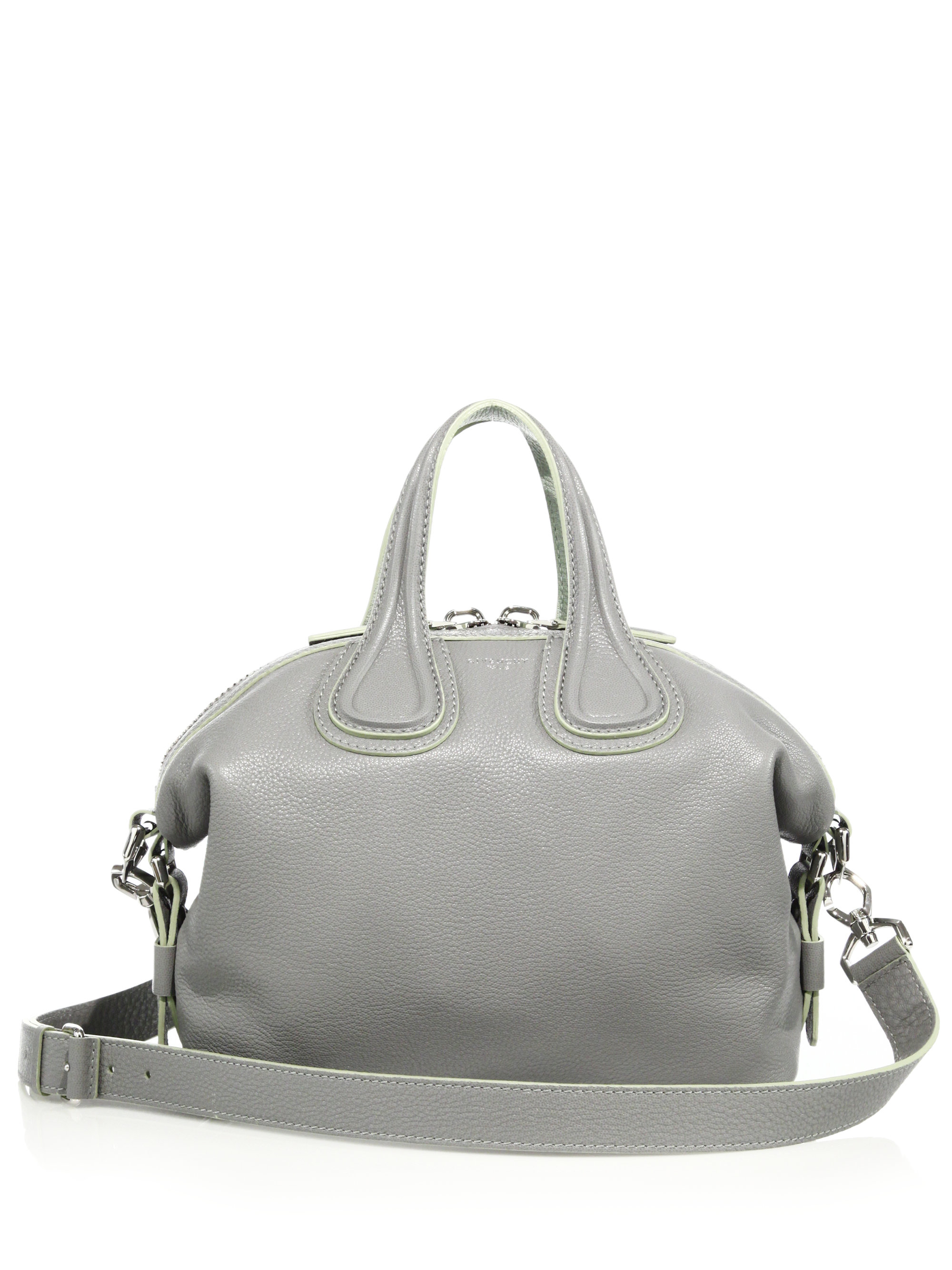 04998671b783 Lyst - Givenchy Nightingale Small Leather Satchel in Gray