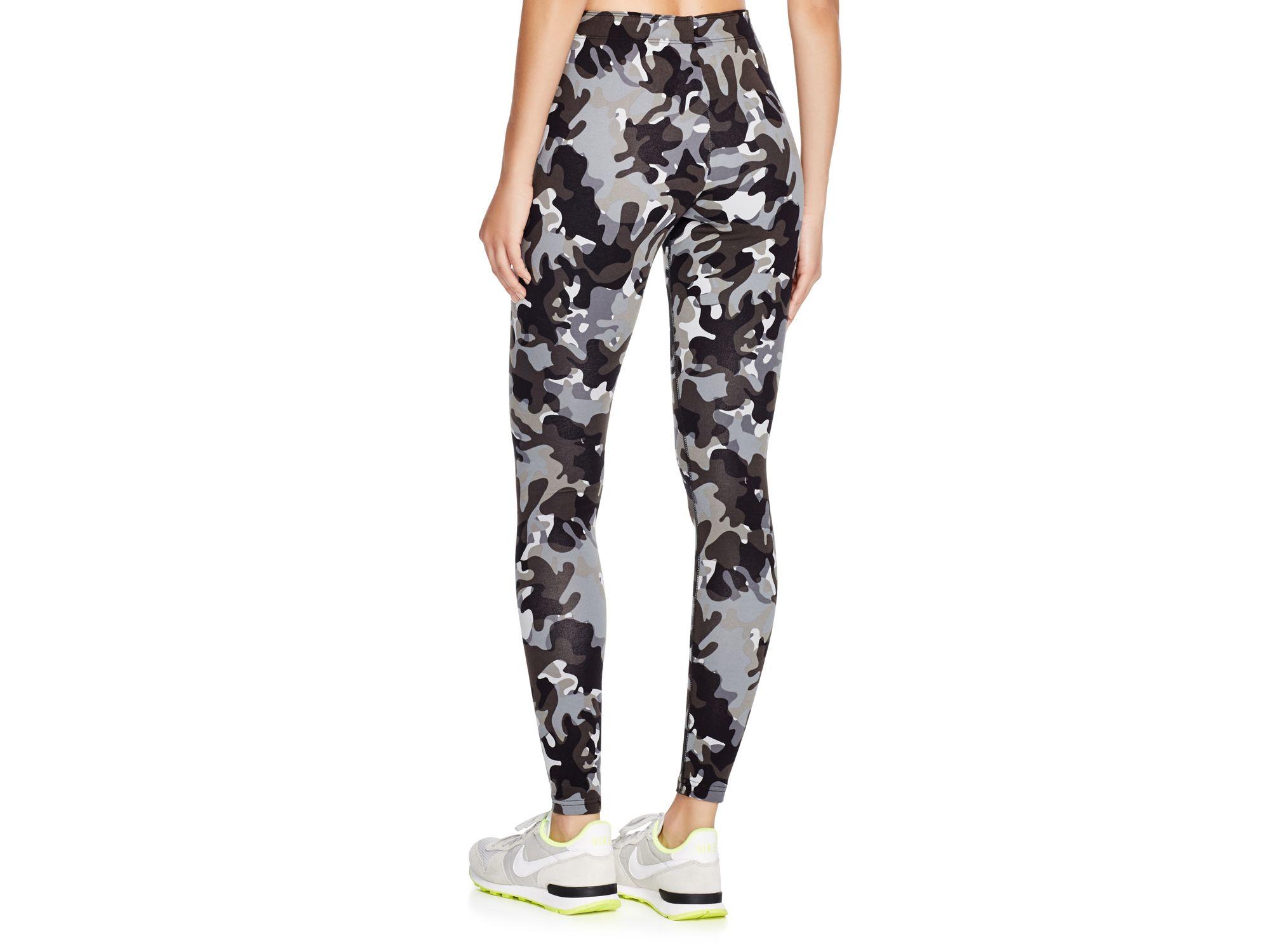 74856ec9df175 Nike Leg-a-see Aop Leggings in Black - Lyst