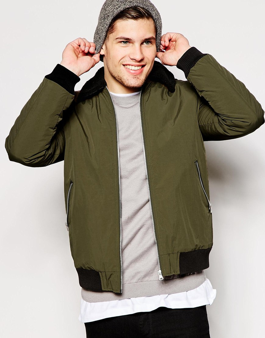 Perfect Lyst - Asos Harrington Jacket With Removable Faux-shearling Collar  LR82