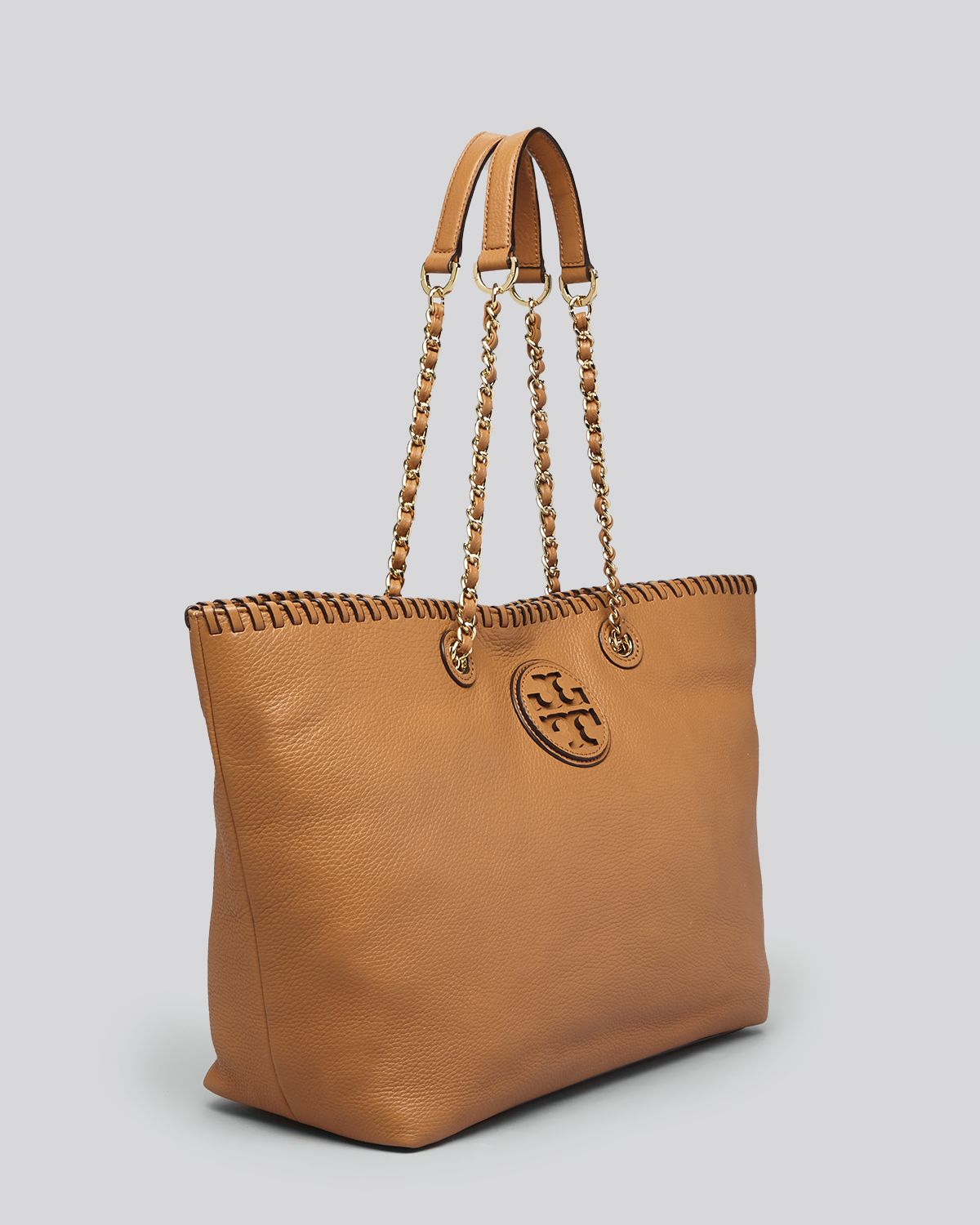 Lyst - Tory Burch Tote Marion Small East West in Brown 92f39ee6e2