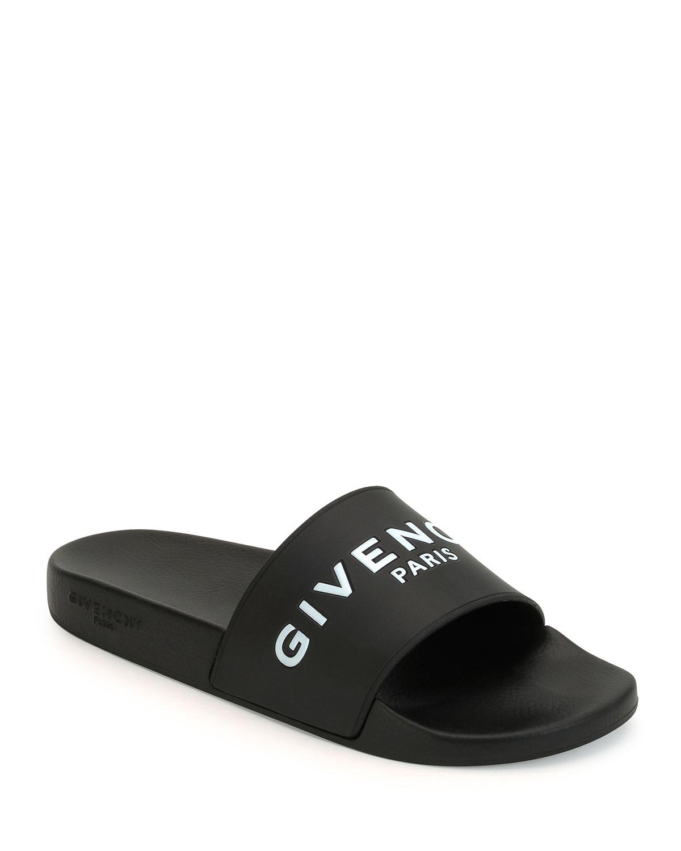 Black Logo Pool Slides Givenchy LznTdEg2nO