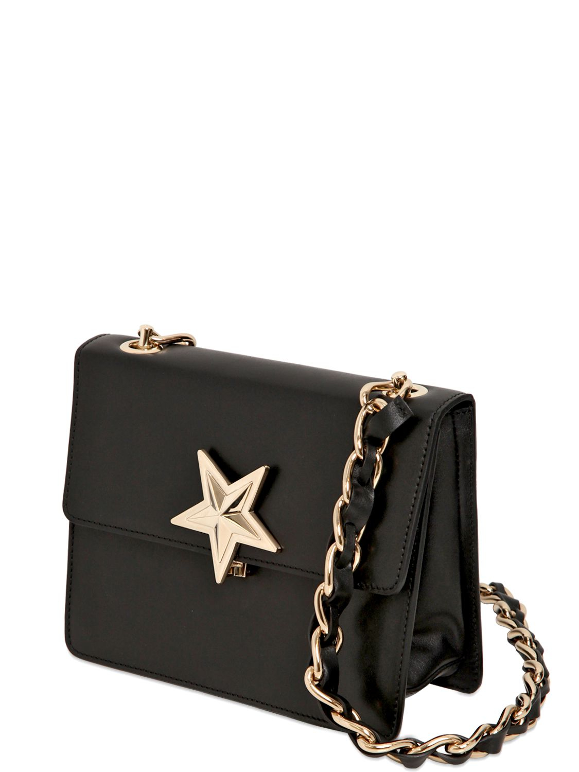 Lyst Red Valentino Leather Star Shoulder Bag In Black