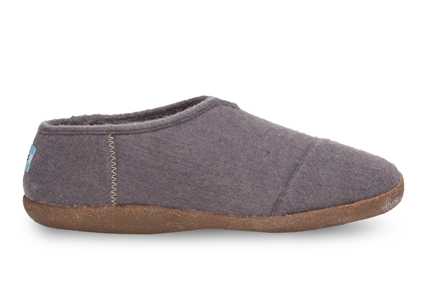 toms charcoal wool s slippers in gray for lyst
