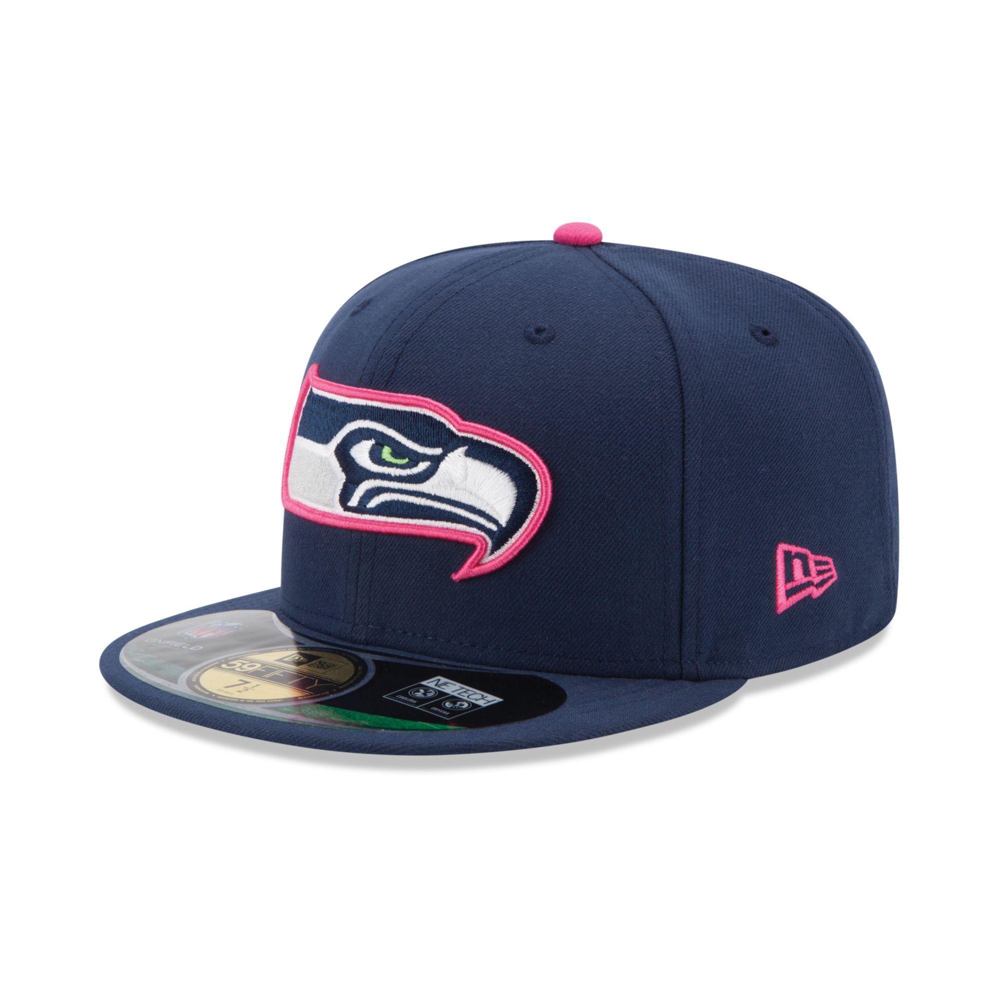 f77db946f36 Lyst - KTZ Seattle Seahawks Breast Cancer Awareness 59fifty Cap in ...