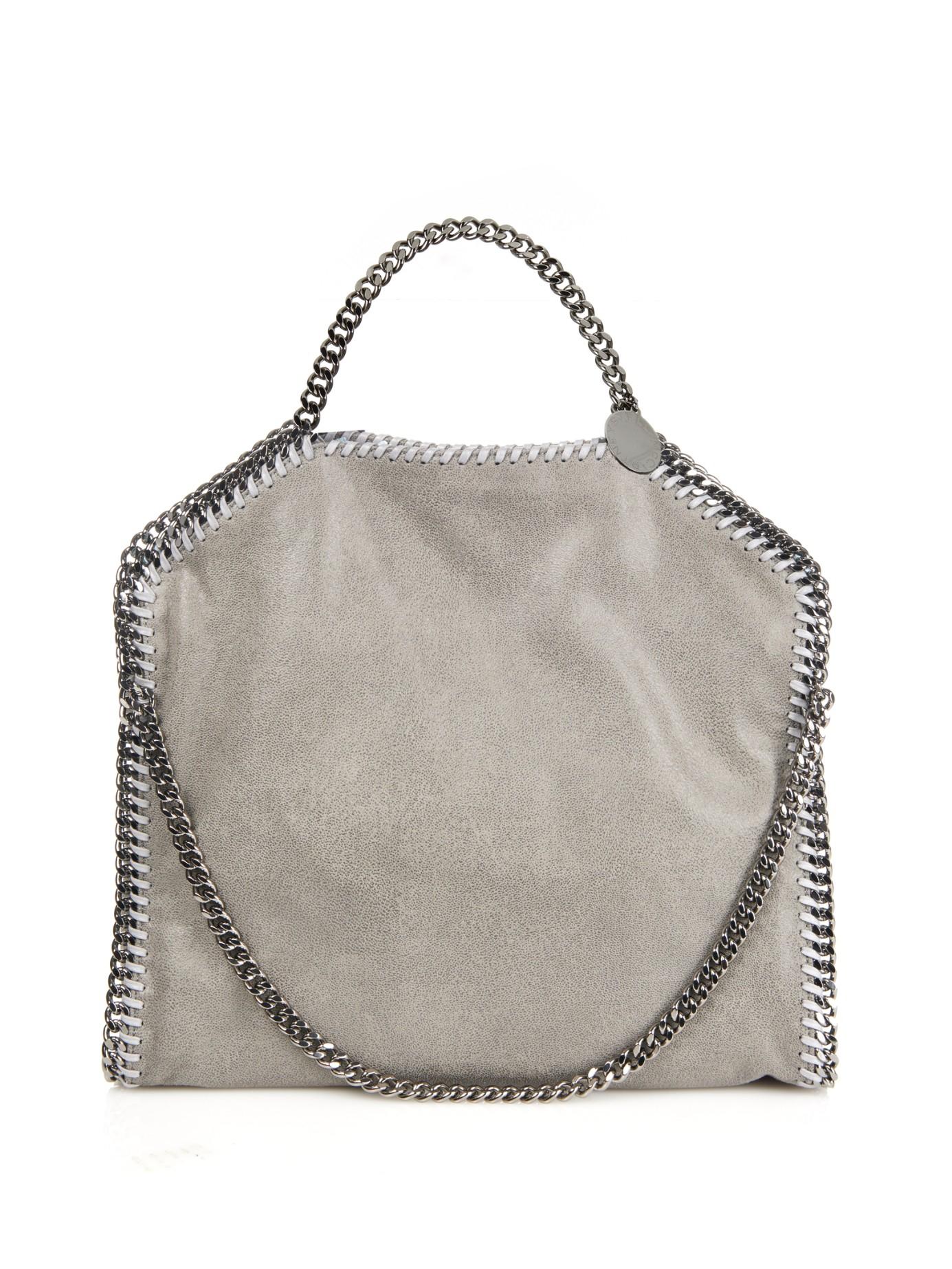 Stella McCartney Falabella Small Faux-suede Shoulder Bag in Gray - Lyst 2f1a39ae05819