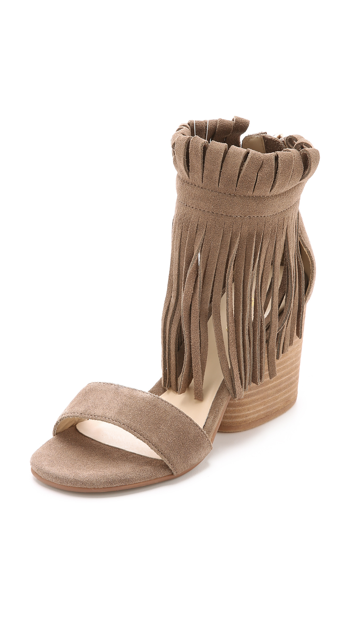 3e988be0784a Lyst - Matiko Morgan Fringe Suede Sandals - White in Brown