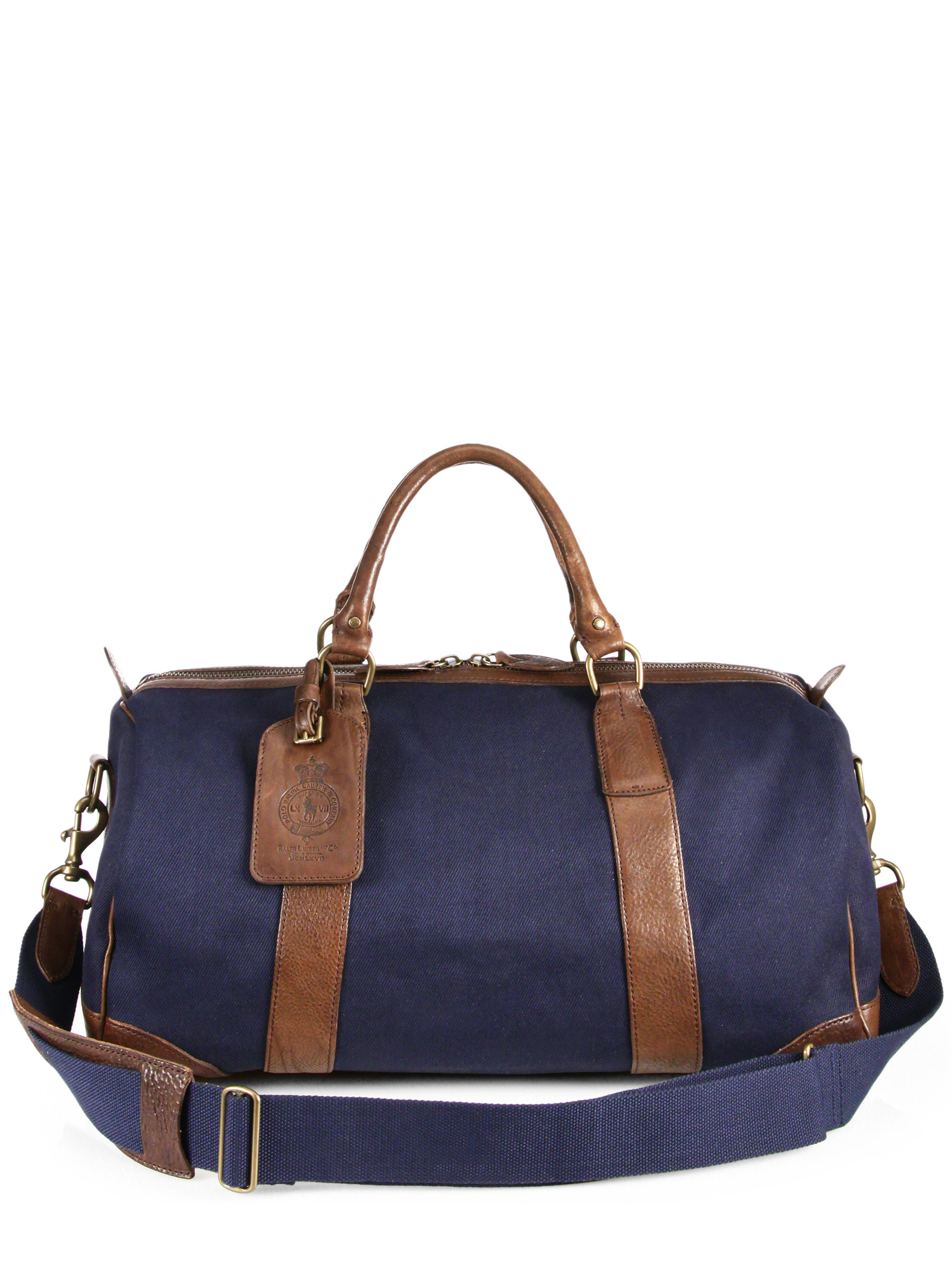 186b69f3a494 ... closeout lyst polo ralph lauren waxed twill gym bag in blue for men  d9d6f e92a5