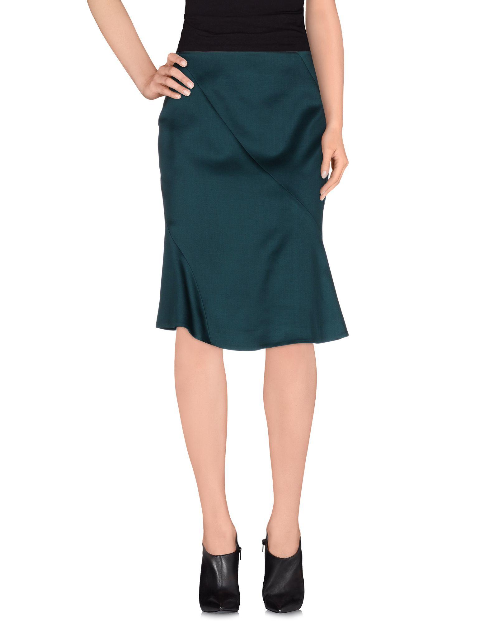 Jil Sander Knee Length Skirt In Green Lyst