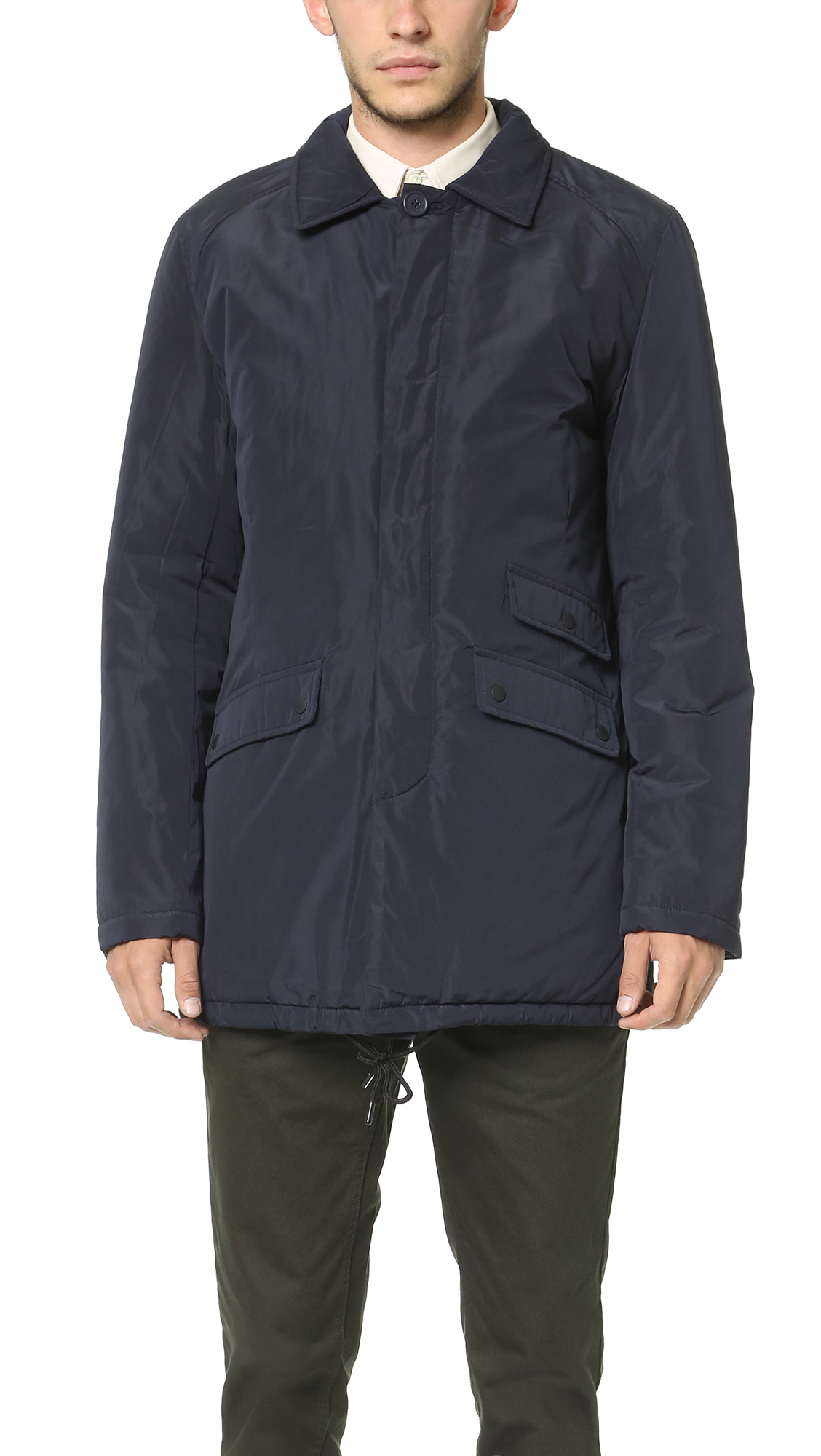 Native youth Padded Winter Mac Jacket in Blue for Men | Lyst