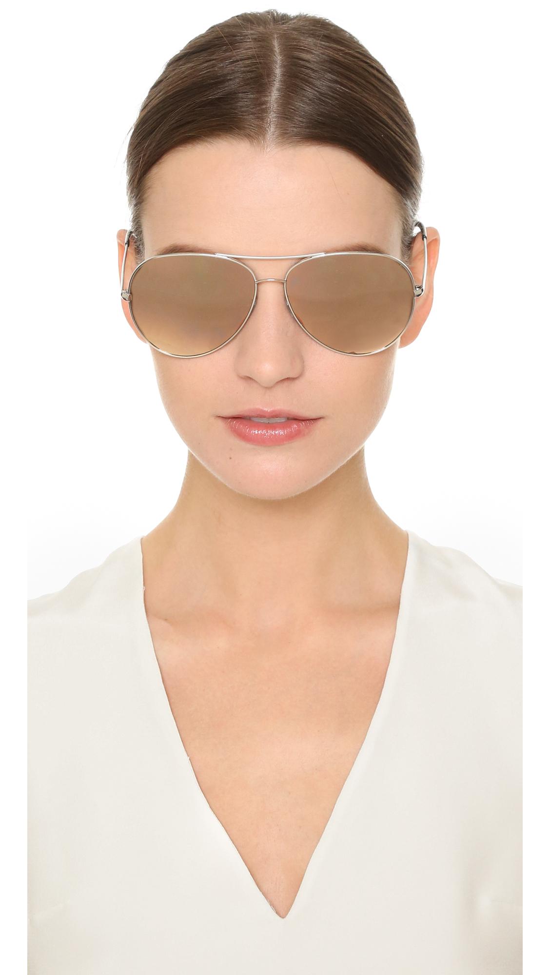 27b6f175c Oliver Peoples Sayer Sunglasses in Metallic - Lyst
