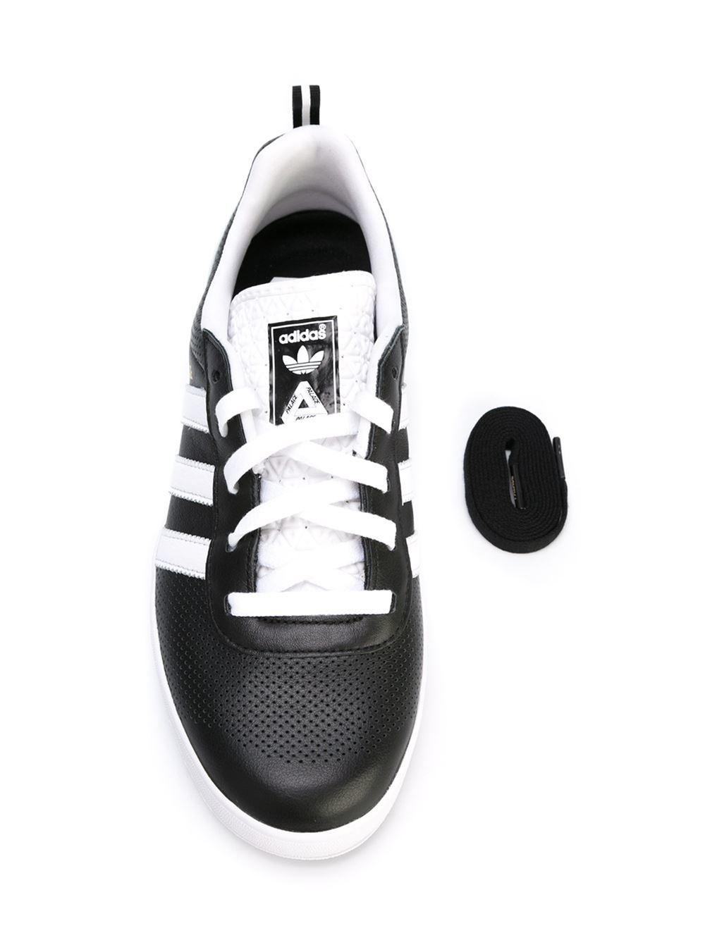 adidas Originals Mens X Palace Pro Suede Trainers BlackWhiteGold