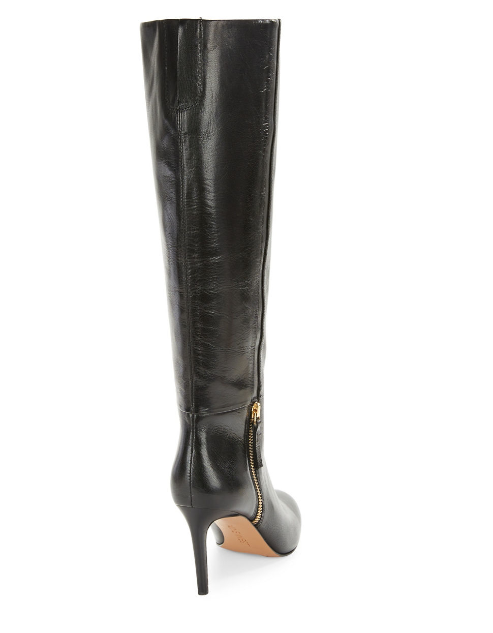 nine west vintage leather knee high boots in black lyst