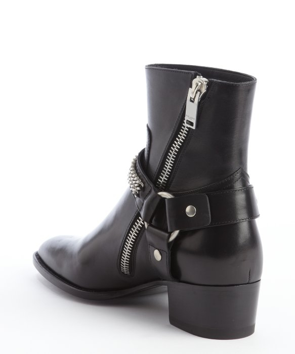 Saint Laurent Leather Chain-Link Ankle Boots sale sale online official cheap online cheap with credit card cheap sale under $60 ZZCKrzUy