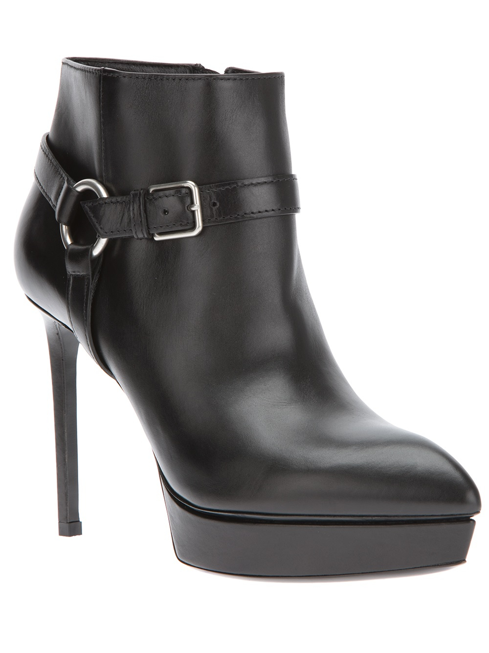 laurent classic janis ankle boot in black lyst