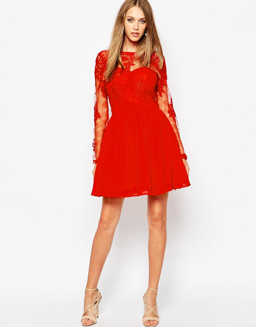 Shop the latest lace dresses online at Missguided and rock this season's hottest look. In swing, midi, bodycon & skater styles. Blue Short Sleeve Lace Dress more colors + $ Red short sleeve double layer skater dress $