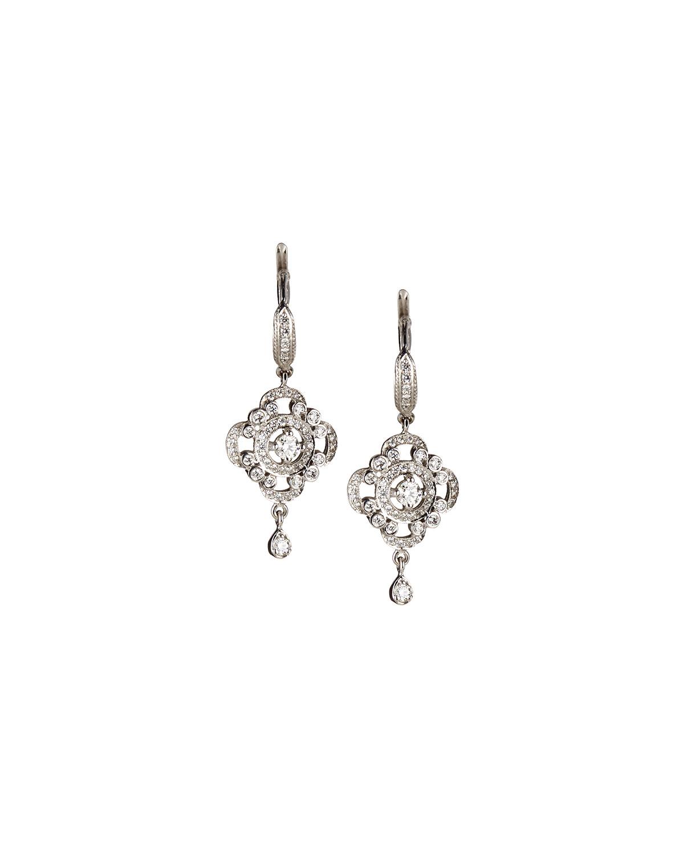 aa6e90d13c3a36 Lyst - Penny Preville 18K White Gold Pavé Diamond Scroll ...
