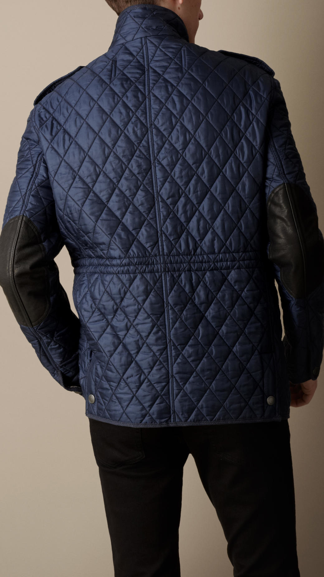 Lyst Burberry Diamond Quilted Field Jacket In Blue For Men