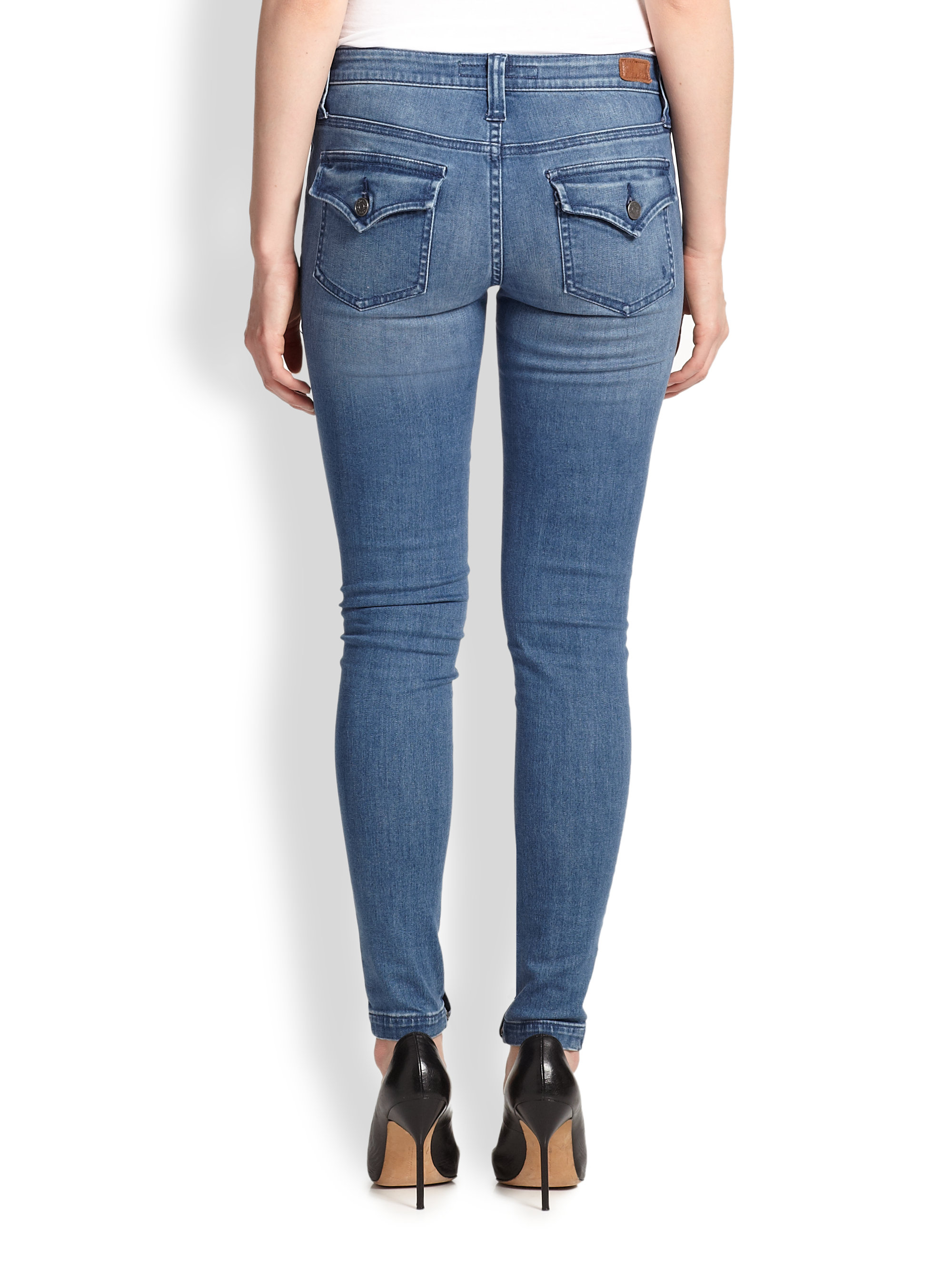 Joie So Real Skinny Cargo Jeans in Blue | Lyst