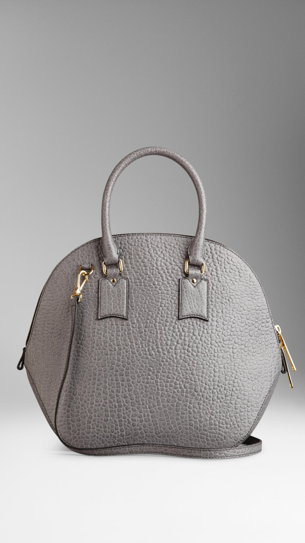 ef1efedcfd05 Lyst - Burberry The Medium Orchard In Signature Grain Leather in Gray