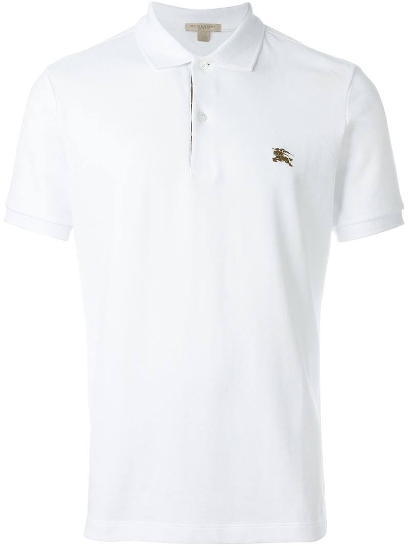 Burberry Brit Classic Polo Shirt In White For Men Lyst