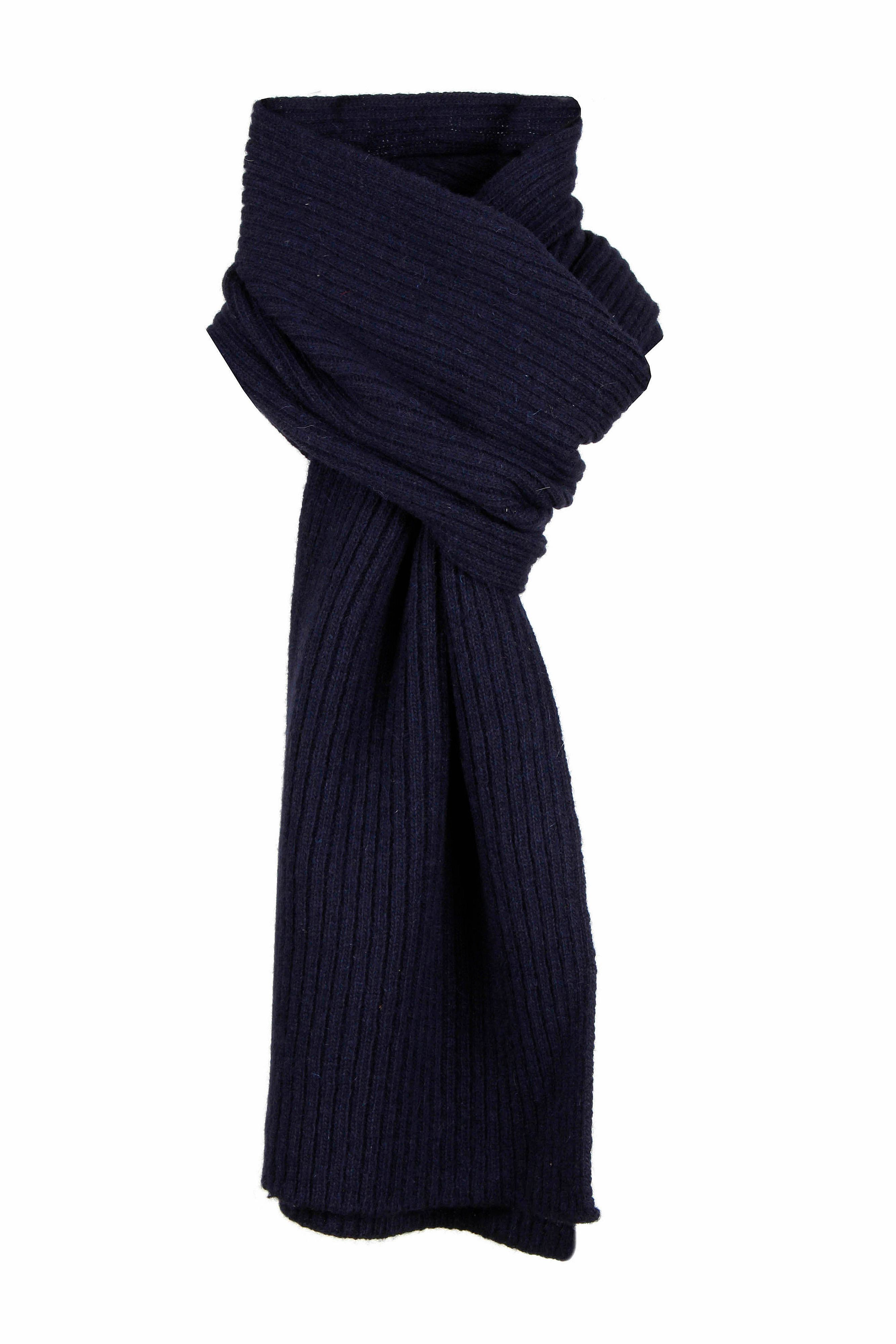 dents knitted scarf in blue for lyst