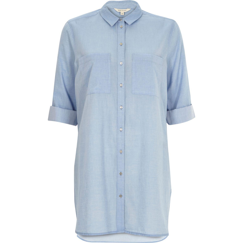 womens denim shirt river island